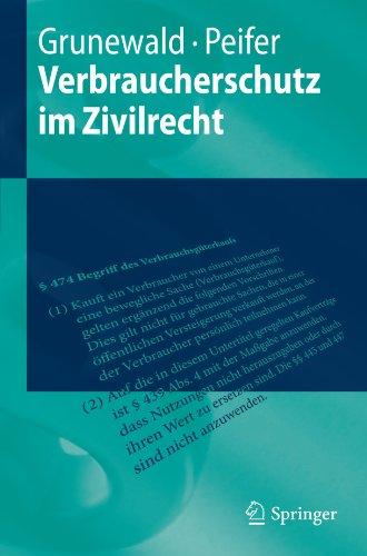 Verbraucherschutz Im Zivilrecht 9783642144202