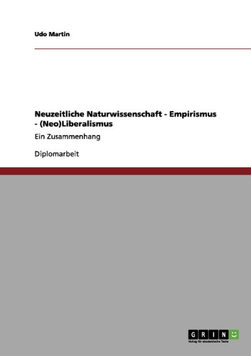 Neuzeitliche Naturwissenschaft - Empirismus - (Neo)Liberalismus