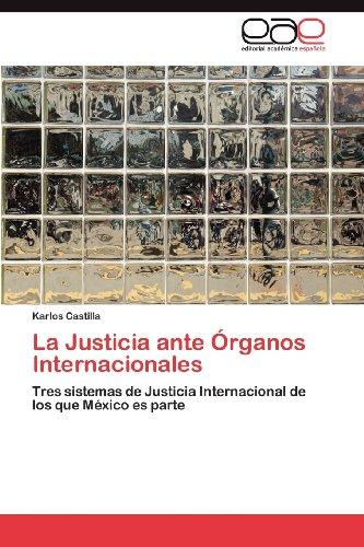 La Justicia Ante Rganos Internacionales 9783659023248