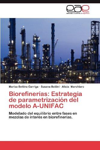 Biorefiner as: Estrategia de Parametrizaci N del Modelo A-Unifac 9783659024580