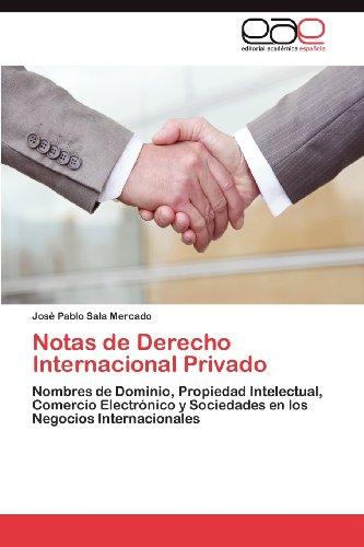 Notas de Derecho Internacional Privado 9783659031700