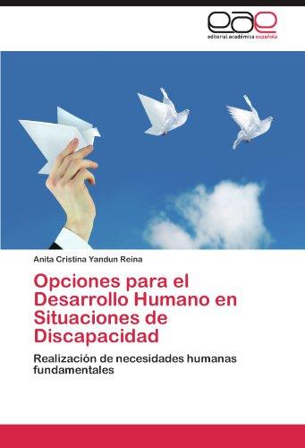 Opciones Para El Desarrollo Humano En Situaciones de Discapacidad 9783659035807