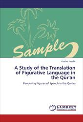 A Study of the Translation of Figurative Language in the Qur'an 18822692