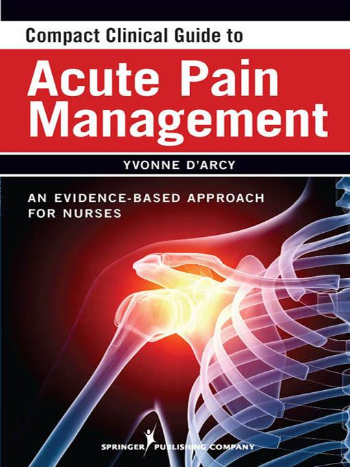 Compact Clinical Guide to Acute Pain Management EB2370004266152