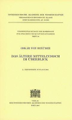 Altere Mittelindisch Im Berblick (2001) 9783700107613