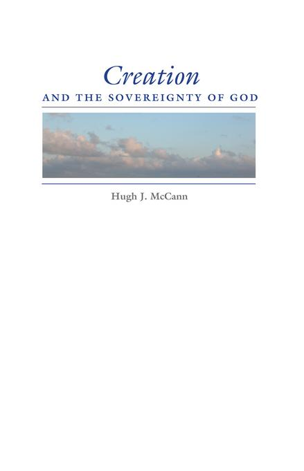 Creation and the Sovereignty of God EB2370004524023