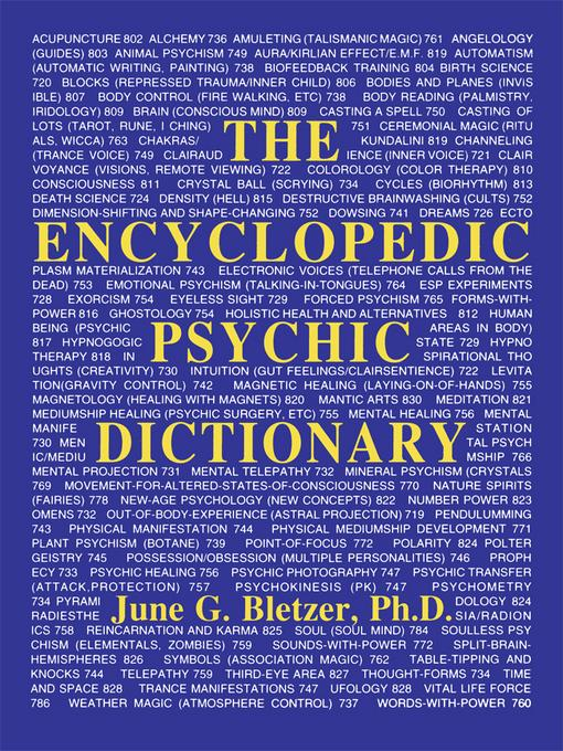 Encyclopedic Psychic Dictionary EB2370003474695