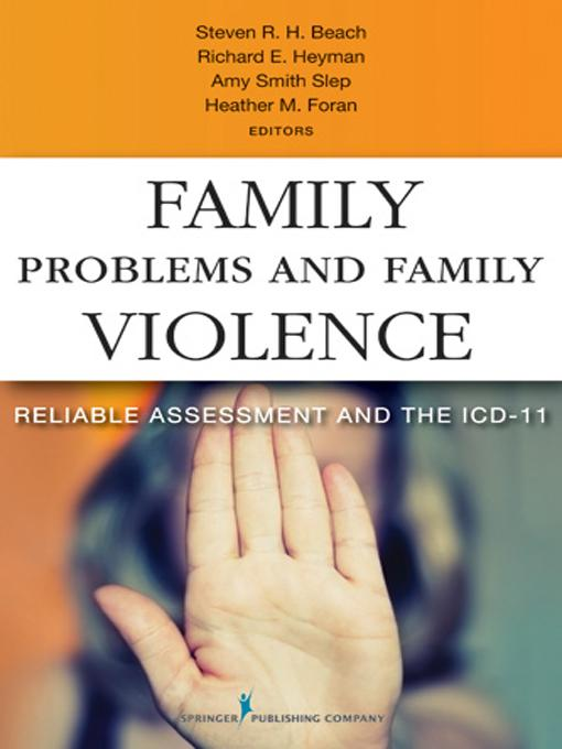 Family Problems and Family Violence: Reliable Assessment and the ICD-11 EB2370004521084