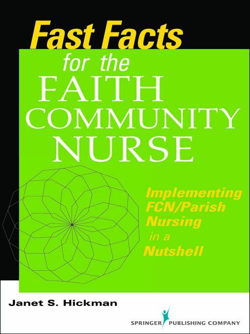 Fast Facts for the Faith Community Nurse EB2370004266725
