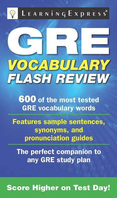 GRE Vocabulary Flash Review EB2370004375373