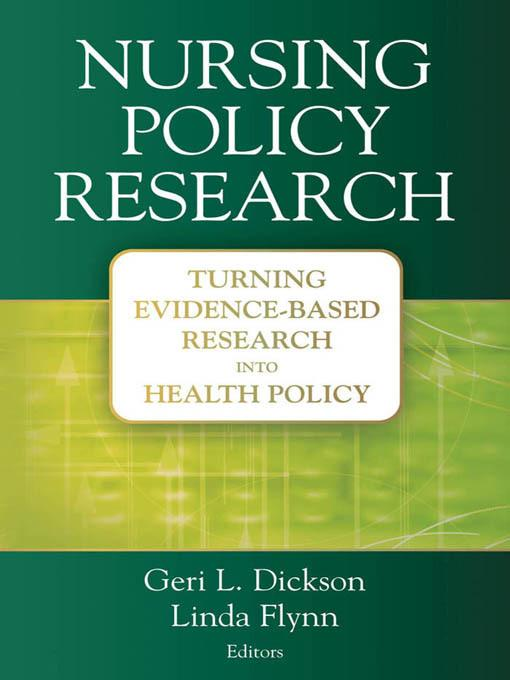 Nursing Policy Research EB2370004266091