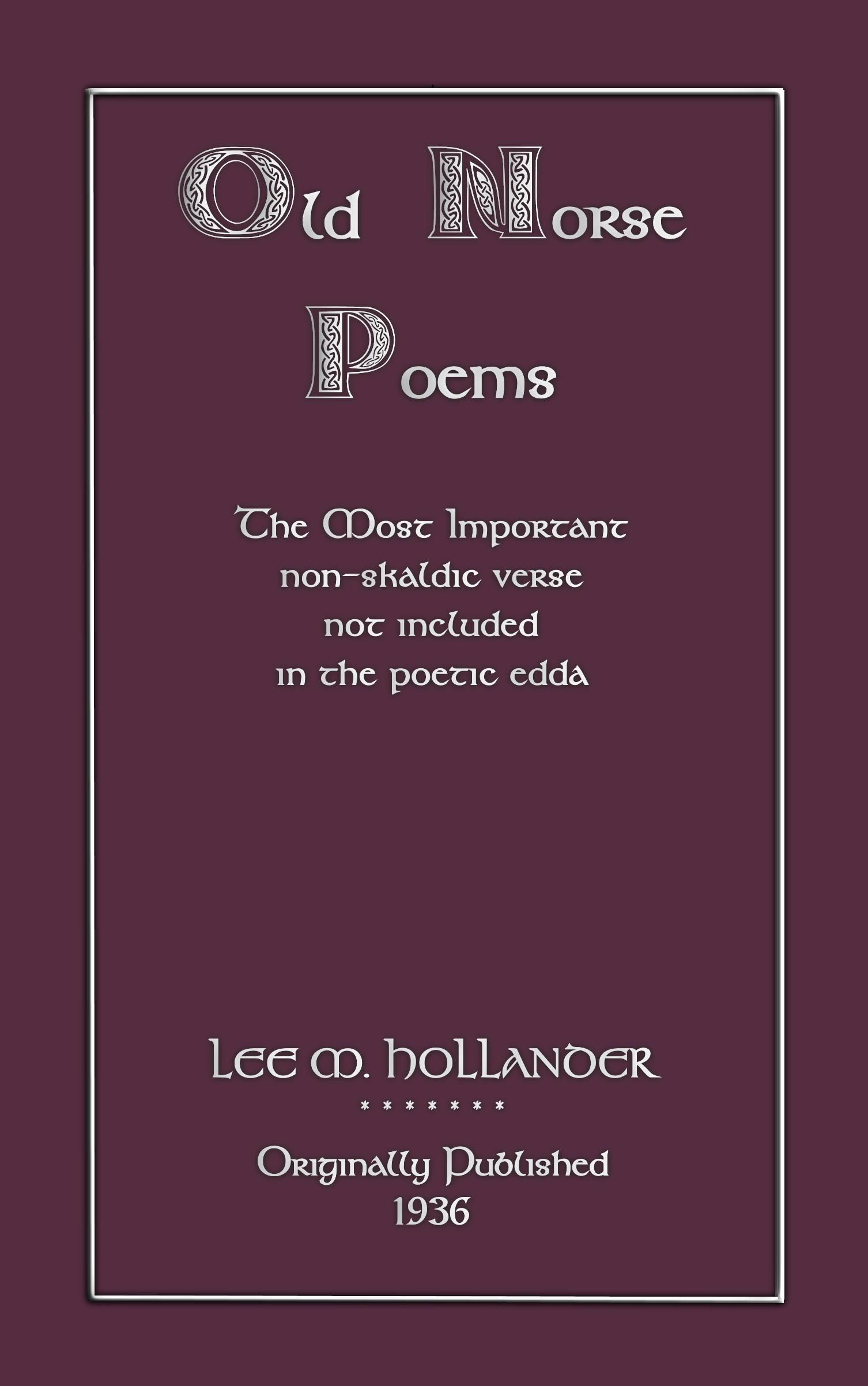 Old Norse Poems EB2370003216325