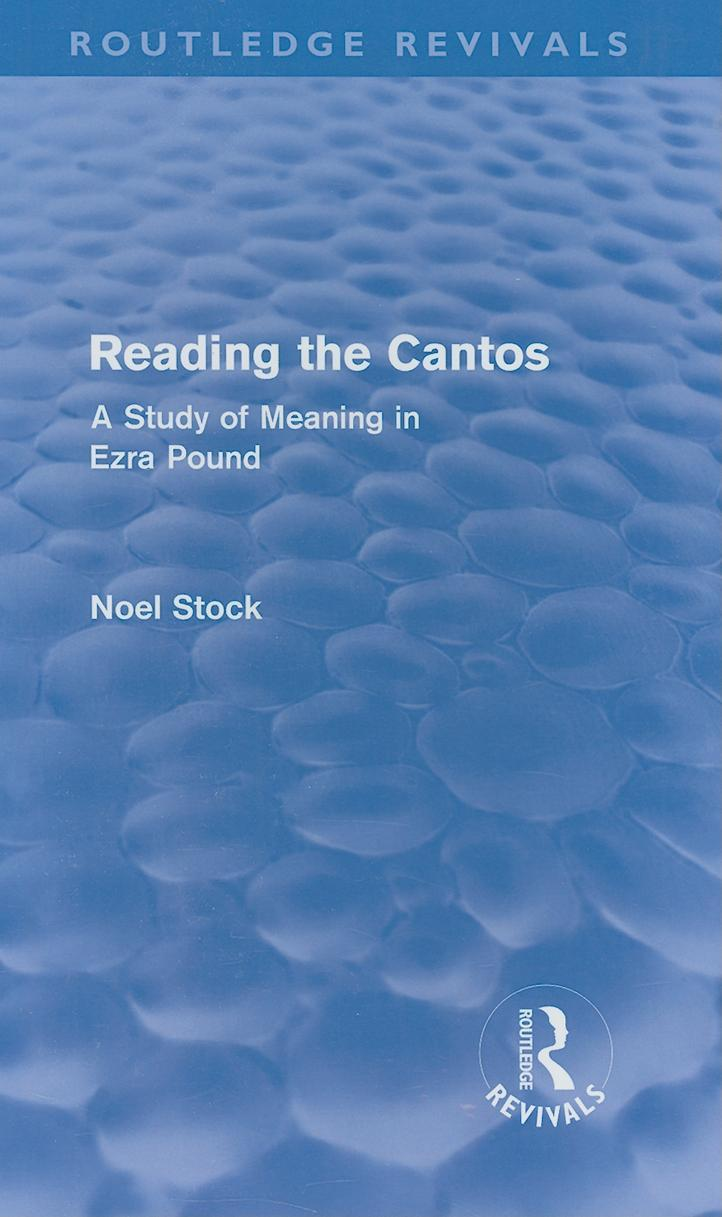 Reading the Cantos (Routledge Revivals) EB2370003286137