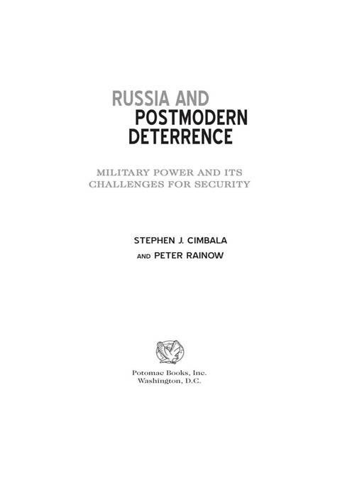 Russia and Postmodern Deterrence EB2370004234052