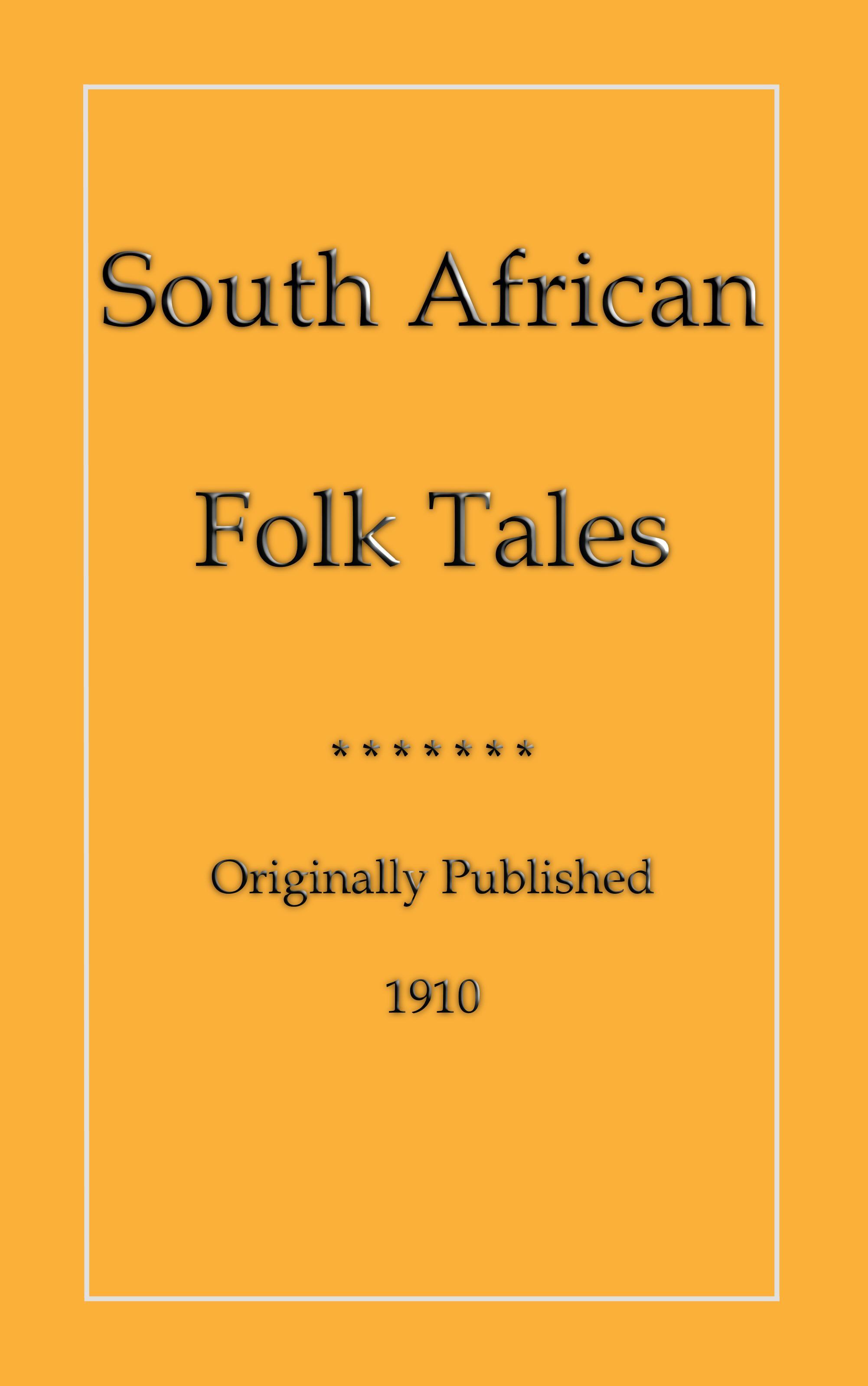 South African Folk Tales EB2370003039955