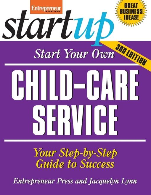 Start Your Own Child-Care Service EB2370003333879
