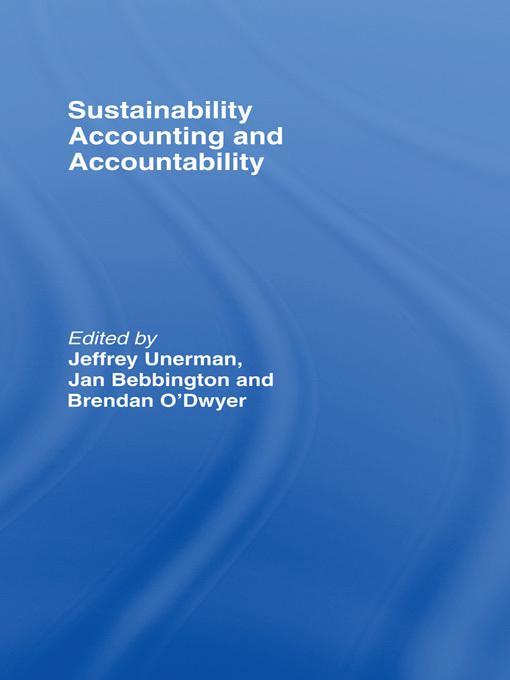 Sustainability Accounting and Accountability EB2370003284522