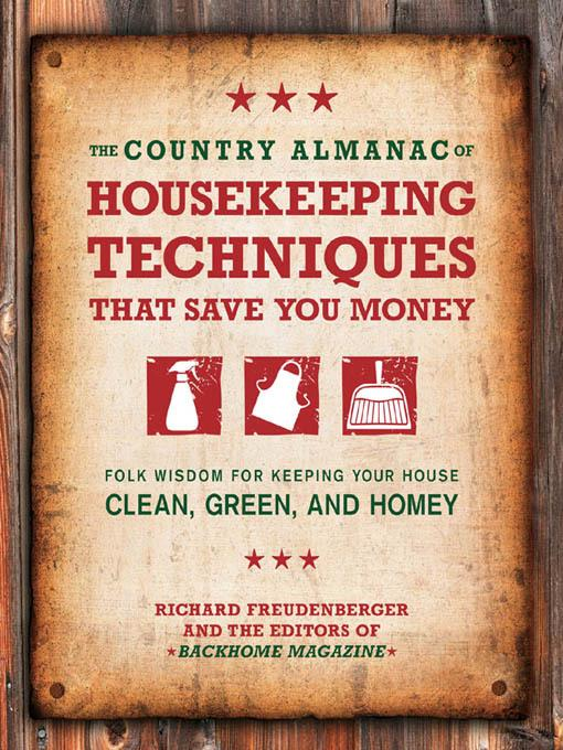 The Country Almanac of Housekeeping Techniques That Save You Money EB2370004226804