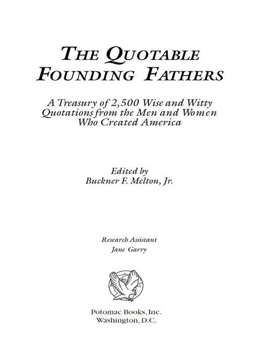 The Quotable Founding Fathers EB2370004237770