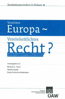 Vereintes Europa - Vereinheitlichtes Recht? 9783700160472