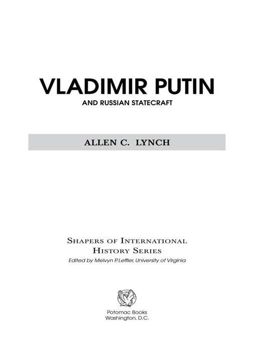 Vladimir Putin and Russian Statecraft EB2370004236698