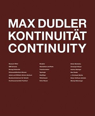Max Dudler Continuity 9783721207514