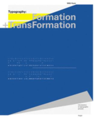 Typography: Formation and Transformation 9783721204957