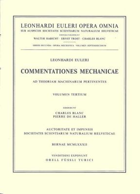 Commentationes Mechanicae Et Astronomicae Ad Scientiam Navalem Pertinentes 1st Part 9783764314507