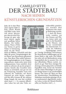 Der Stadtebau Nach Seinen Kunstlerischen Grundsatzen: Vermehrt Um Grossstadtgrun 9783764366926