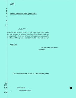Eidgenassische Farderpreise Fa1/4r Design / Bourses Fa(c)Da(c)Rales de Design / Swiss Federal Design Grants 2006