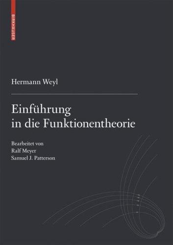 Einfa1/4hrung in Die Funktionentheorie 9783764388454