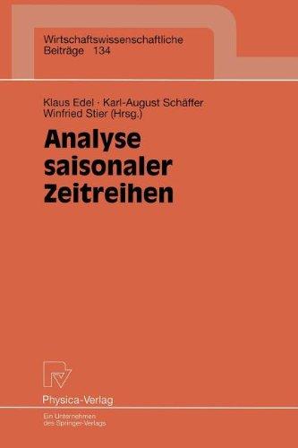 Analyse Saisonaler Zeitreihen 9783790809817