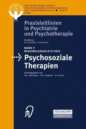 Behandlungsleitlinie Psychosoziale Therapien 9783798515031
