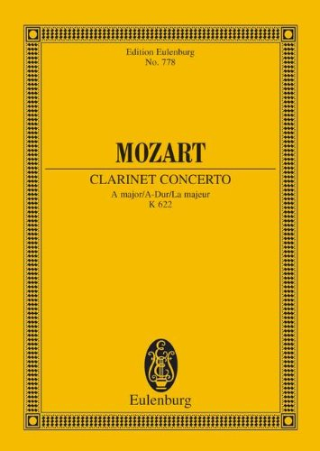 Wolfgang Amadeus Mozart: Clarinet Concerto a Major 9783795766672