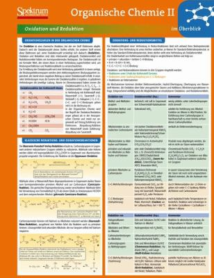 Lerntafel: Organische Chemie II Im Berblick 9783827426260