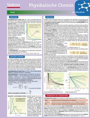 Lerntafel: Physikalische Chemie Im Berblick 9783827426277