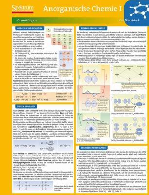 Lerntafel: Anorganische Chemie I Im Berblick 9783827426437