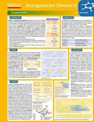 Lerntafel: Anorganische Chemie II Im Berblick 9783827426451