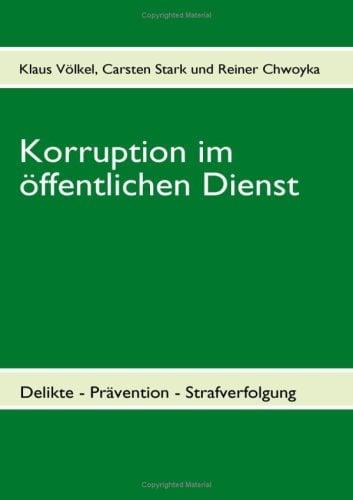 Korruption Im Ffentlichen Dienst 9783833495199