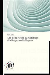 Les Proprietes Surfaciques D'Alliages Metalliques 20744661