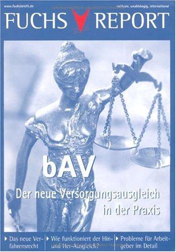 Bav - Der Neue Versorgungsausgleich 9783834920591