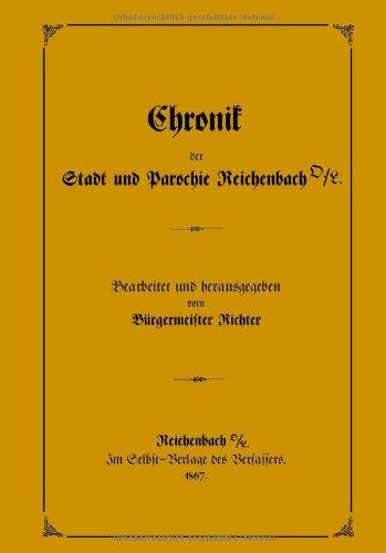 Chronik Der Stadt Und Parochie Reichenbach O./L. 9783833424489