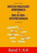 Deutsch-Englisches Wrterbuch Der Eins-Zu-Eins-Entsprechungen in Zwei Bnden 9783833489792