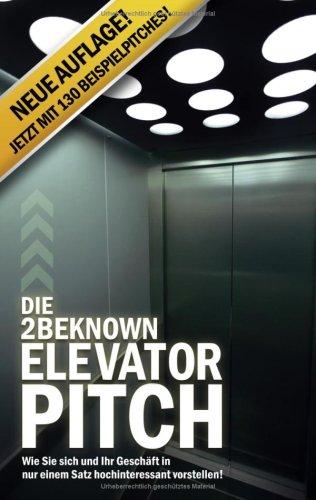 Die 2beknown Elevator Pitch 9783837095067