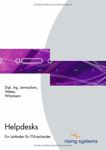 Helpdesks 9783833460739