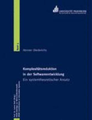Komplexitatsreduktion in Der Softwareentwicklung 9783833417900