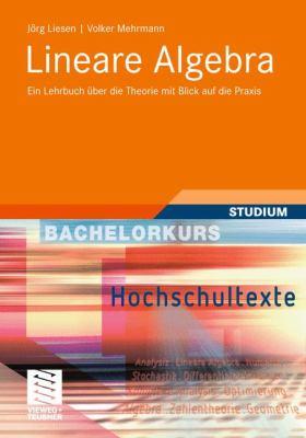 Lineare Algebra: Ein Lehrbuch Ber Die Theorie Mit Blick Auf Die Praxis 9783834800817