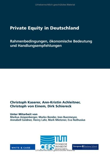 Private Equity in Deutschland 9783833479748