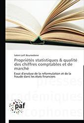 Proprietes Statistiques & Qualite Des Chiffres Comptables Et de Marche 20994427