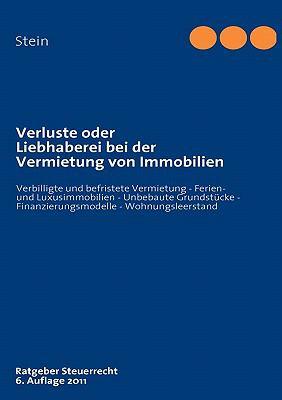 Verluste Oder Liebhaberei Bei Der Vermietung Von Immobilien 9783837002775